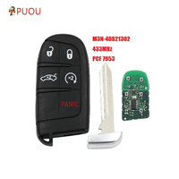 5 Button Smart Remote Key 433MHz 7953A / ID46 Chip for Dodge Charger Challenger Dart for Chrysler 300 for Jeep Grand Cherokee