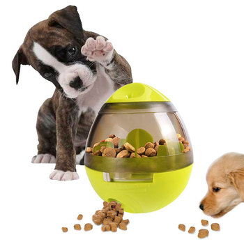 Interactive Dog Cat Food Treat Ball Increases IQ and Mental Stimulation dog treat toy Funny tumbler design Pet toy for Dogs Cats