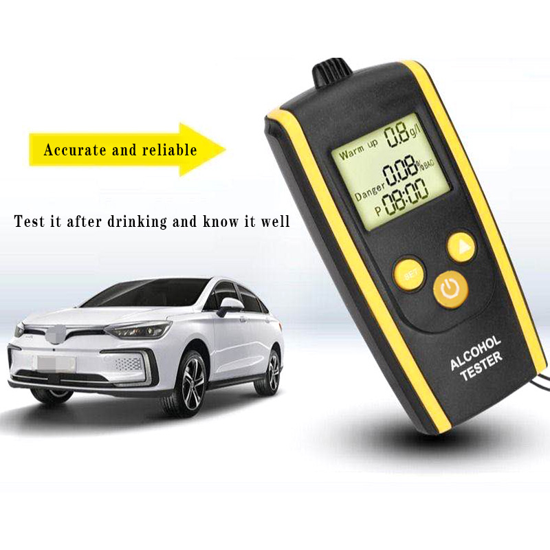 Alcohol Breath Tester, HT-611 Breath Alcohol Tester High Resolution LCD Display Non-Contact Breathalyzer
