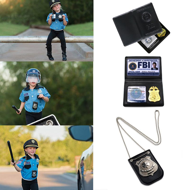 Cosplay FBI/CIA Badge ID Card Halloween Dress up Party Costume Certificate Accessories for Halloween Masquerade Supplies