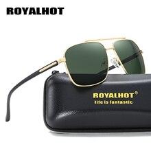 RoyalHot Men Women Retro Polarized Aloy Square Frame Sunglasses  Driving Sun Glasses Shades Oculos masculino Male 900100