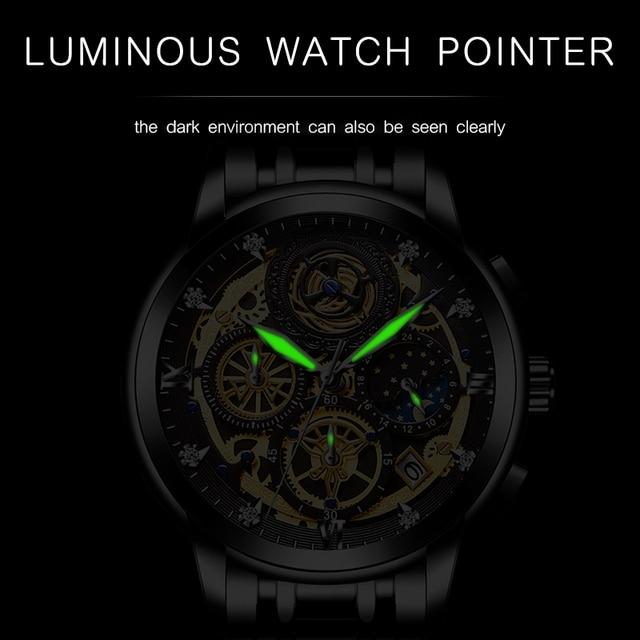 WISHDOIT 2020 New Fashion Men Watch  Calendar Stainless Steel Top Brand Luxury Sports Chronograph Quartz Watch Relogio Masculino 4