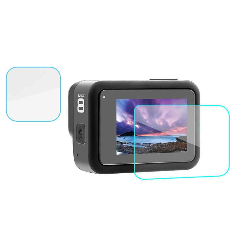 1/2/3 pièces protection d'écran pour GoPro Hero 8 noir accessoires Film de protection verre trempé pour Gopro Hero 8 caméra d'action