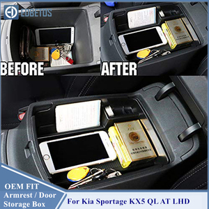 Image 4 - Armrest Storage Box For Kia Sportage KX5 QL AT LHD 2016   2020 Center Console Organzier Stowing Tidying Storage Holder Tray