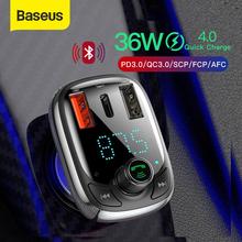 Baseus Quick Charge 4 0 Car Charger with FM Transmitter Bluetooth Handsfree FM Modulator PD 3 0 Fast USB Car Charger For iPhone cheap Car Lighter Slot ROHS Baseus Quick Charge 3 0 Car Charger USB PD 12-24V 2 4A DC 12V-24V 3 4A 4 5V 5A 5V 4 5A 9V 3A 12V 2 4A