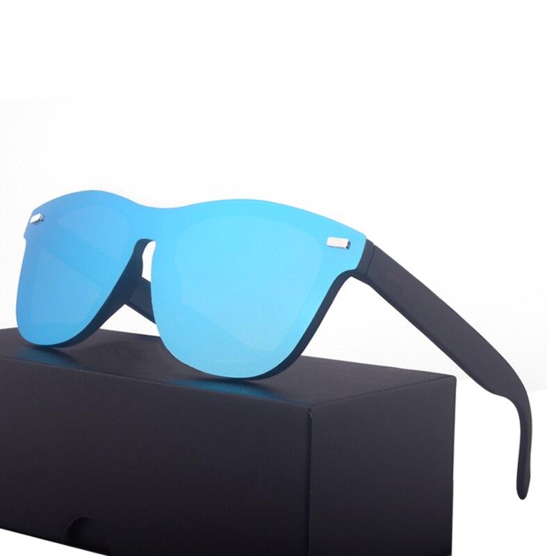 2020 Classic Polarized Sunglasses Rimless One Piece Frame Mirror Coating Sun Glasses UV400 Gafas De Sol