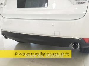Image 2 - עבור מאזדה CX 5 CX5 2017 2018 2019 2020 KF רכב אחורי דלת תחתון כרום לקצץ זנב פגוש רצועות מדבקות כיסוי סטיילינג אבזרים