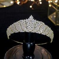ASNORA Bridal hair accessories, ladies headwear and birthday crown for women's zirconia crown wedding accessories,Tiaras