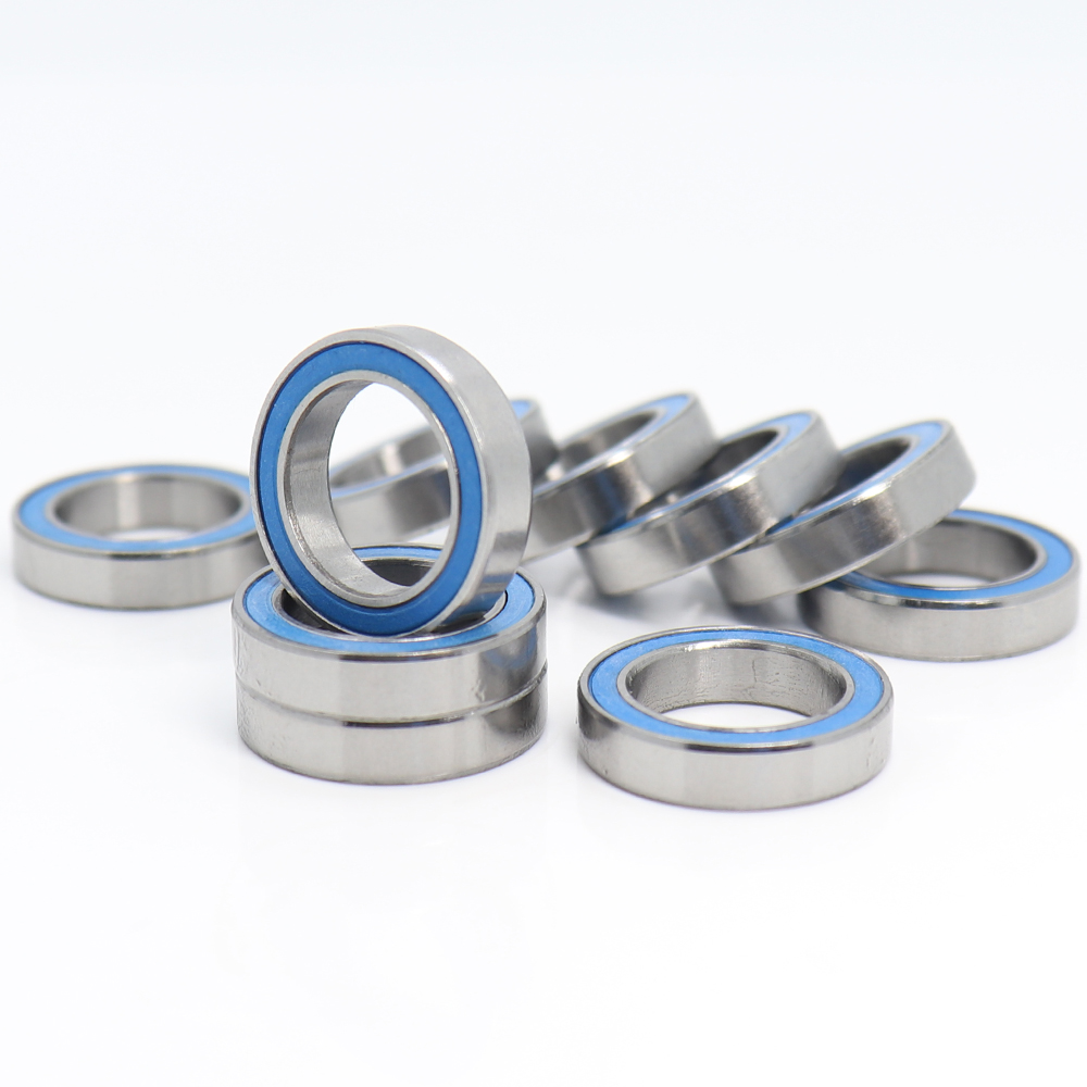<font><b>6701RS</b></font> Bearing 10PCS 12x18x4 mm ABEC-3 Hobby Electric RC Car Truck 6701 RS 2RS Ball Bearings 6701-2RS Blue Sealed image