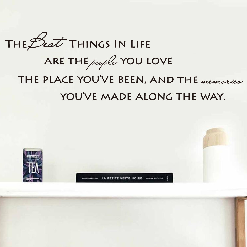 shipping the best things in life vinyl sentences wall decals