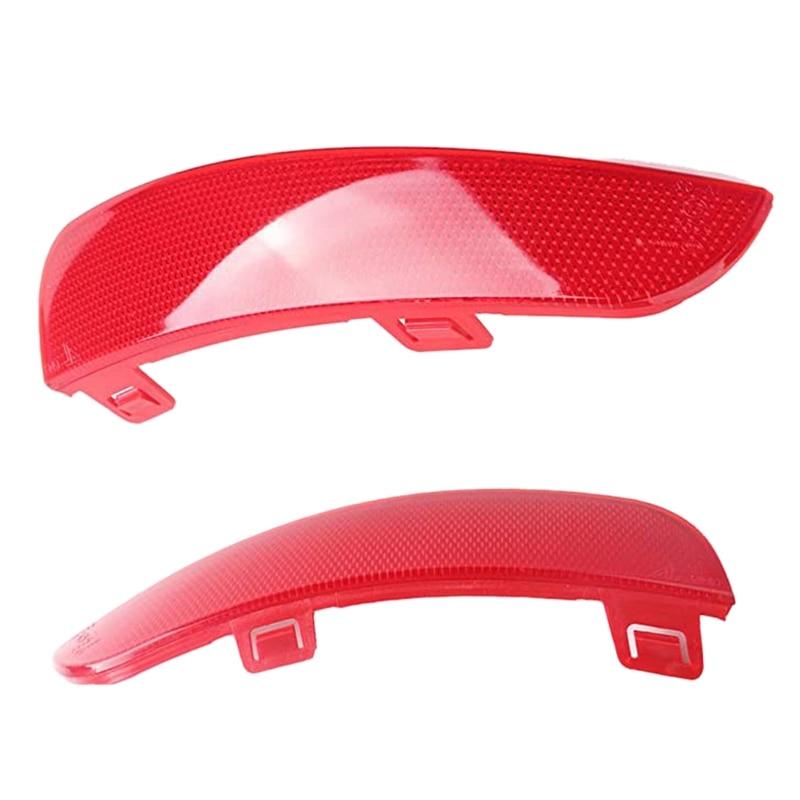 2Pcs Car Red Rear Bumper Left Right Reflector Lamp Light Lens For Volvo S40 V50 2008-2015 30763345 30763346