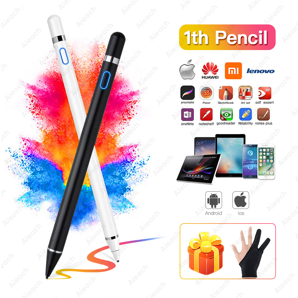 For Apple iPad Pro 11 12.9 10.5 9.7 2017 2018 Active Stylus Touch Pen Smart Capacitance Pencil For iPad 10.2 mini 5 4 Air 1 2 3
