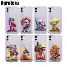 цена Agrotera 100 Pieces Phone Cases Han Solo IG-88 K-2SO Clear TPU Case Cover for iPhone 6 6s 7 8 Plus X XS XR 11 Pro Max онлайн в 2017 году