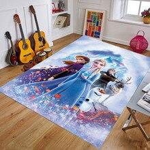 Tapete de playmat frozen, tapete para crianças tapete de cozinha no quarto das crianças engatinhando