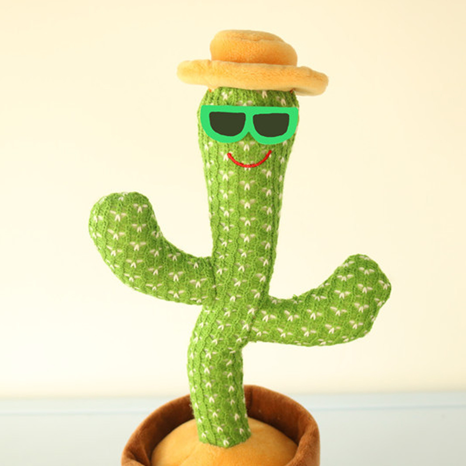 Dancing Cactus Plush Toy Electronic With Song Dance Succulent Lovers Plush Cute Dancing Cactus Early Childhood Education Toy
