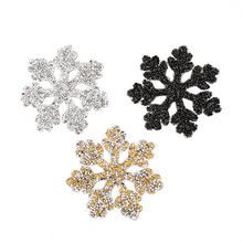 Snowflake Rhinestone Applique Patch DIY Shoe Bag Clothes Sticker Clothing Accessories rhinestone transfer G