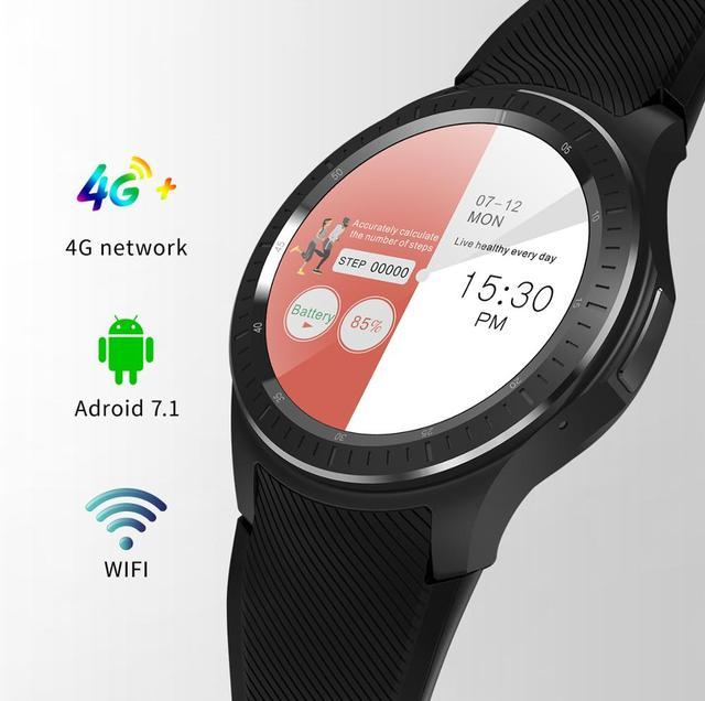 DM368 플러스 스마트 워치 블루투스 Smartwatch 4G 네트워크 MT6739 안드로이드 7.1 1GB + 16GB 심박수 Gps 와이파이