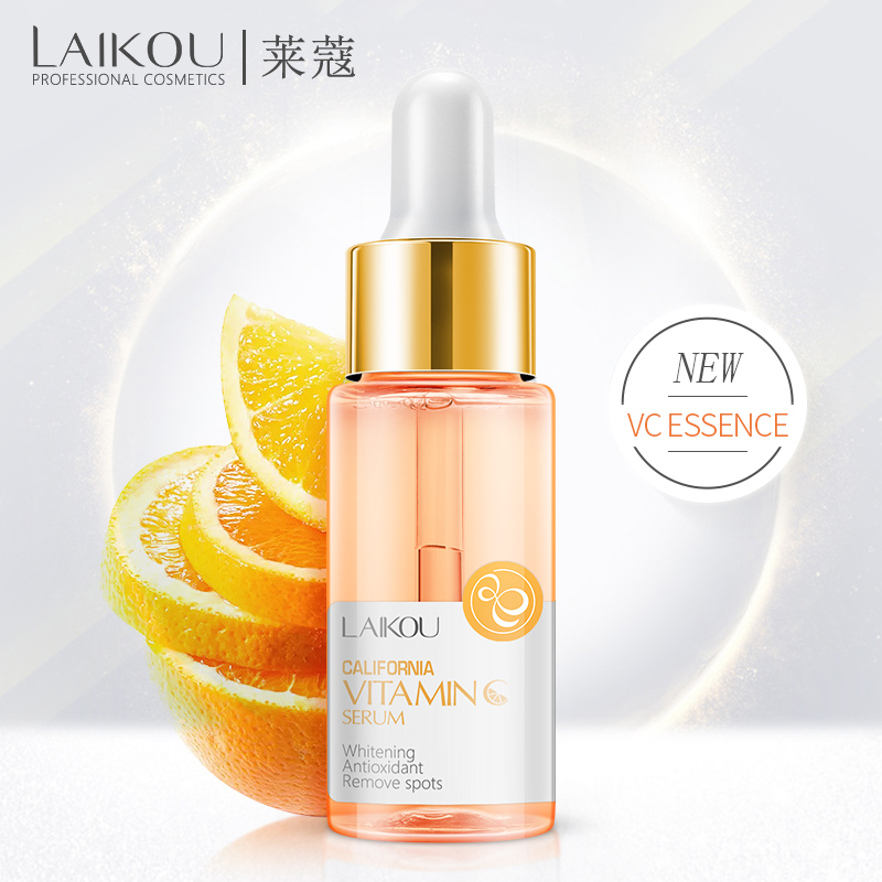 LAIKOU Vitamin C Whitening Serum Hyaluronic Acid Anti-aging Nourishing Moisturizing Firming Serum Shrink Pore Essence Face Care