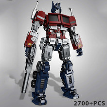 Optimus Maron 새로운 영화 MOC Transformerslys 로봇 모델 빌딩 블록 Lepining Kids Boys for Children Transformerslys Toys 661(China)