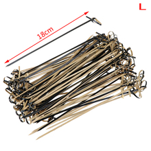 100pcs Disposable Bamboo Picks with Twisted Ends Knotted Cocktail Picks for Cocktail Party Food Drink Barbeque Snacks Club