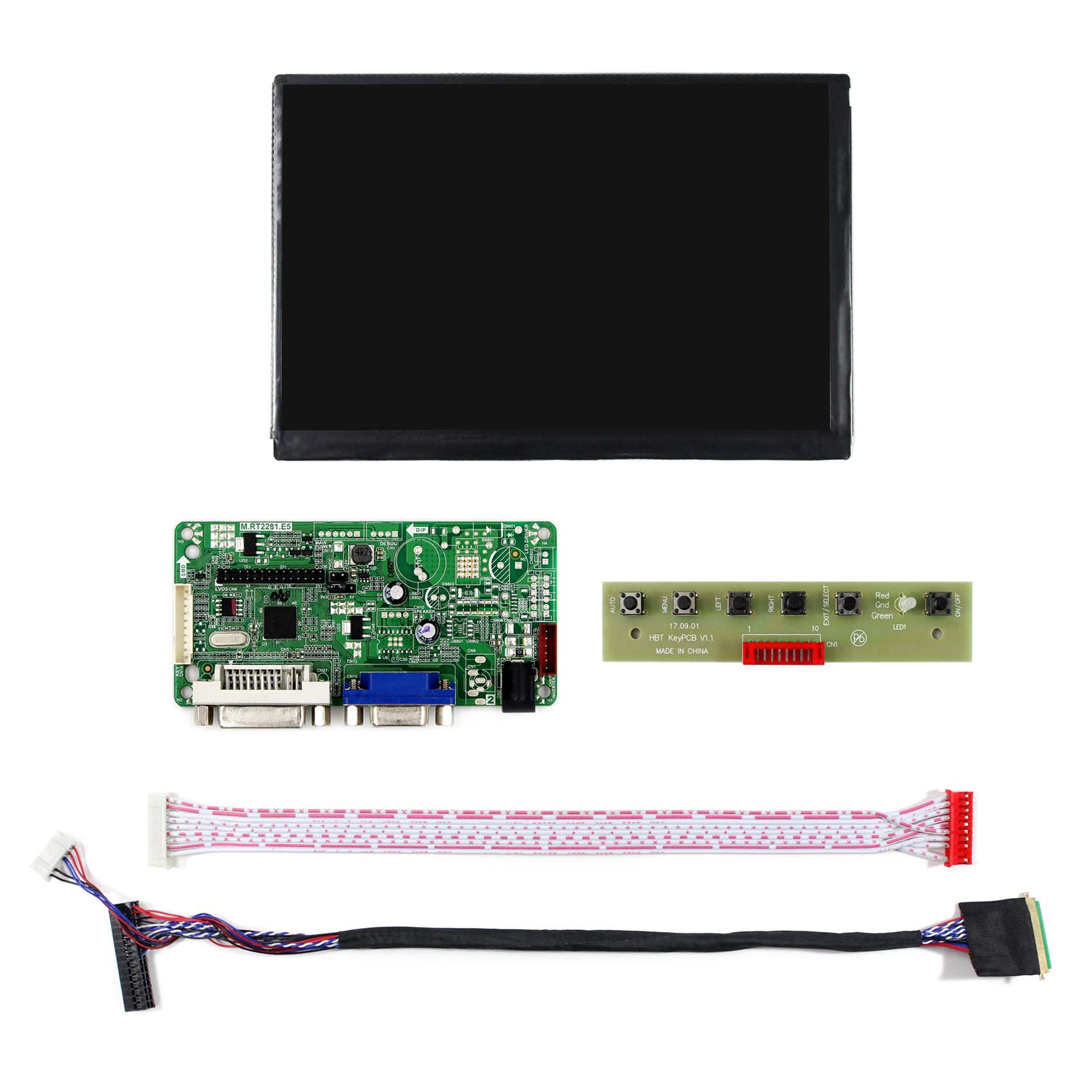 """7"""" 1280X800 N070ICG-LD1 7 inch lcd dispaly + controller board driver+Resistive touch screen (Res) or Capacitive Touch(Cap)"""