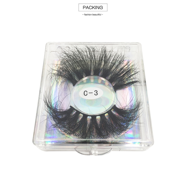 RED SIREN 25mm Lashes Real Mink Eyelashes Cruelty Free Dramatic Long Fluffy 3d Mink Lashes Extension Makeup Mink Lashes 2