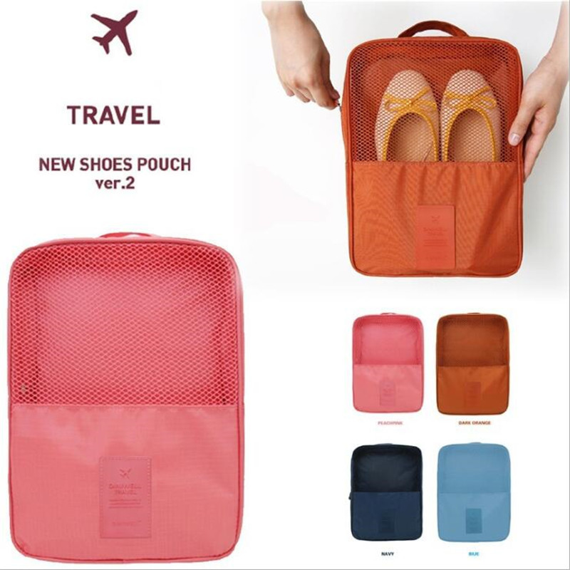 Portable Shoes Bags Travel Underwear Clothes Organizer Bra Cosmetic Makeup Zipper Pouch Cable Storage Bag Accessories Supplies