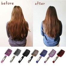 Hair-Brush Massage Comb Hairdressing-Styling-Tools Detangle Nylon Girls Women Wet