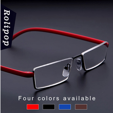 TR90 Womens Half Frame Reading Glasses for Men Readers Glasses Metal Vision Magnifying Glasses Soft and Comfortable To Wear Male
