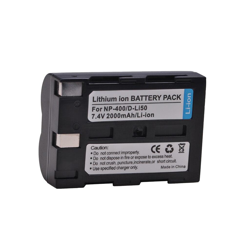 D-Li50 NP-400 NP400 DLi50 Батарея для Pentax K10D K20D, Konica Minolta DiMAGE A1, A2, Dynax 5D, 7D, Maxxum 5D, 7D, Sigma SD15