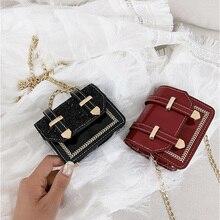 цены Designer Famous Brand Shoulder Bags For 2020 Women Crossbody Bag Fashion Sequin Chain PU Flap Messenger Bag Ladies Cover Handbag