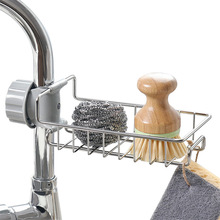 Basket-Organizer Faucet-Holder Shelf Sink-Drain-Rack Bathroom-Accessories Sponge-Storage