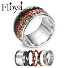 Cremo Black Rings For women Band Halloween Red Chocolate Filled Ring Interchangeable Smooth Cut Surface Femme Bijoux