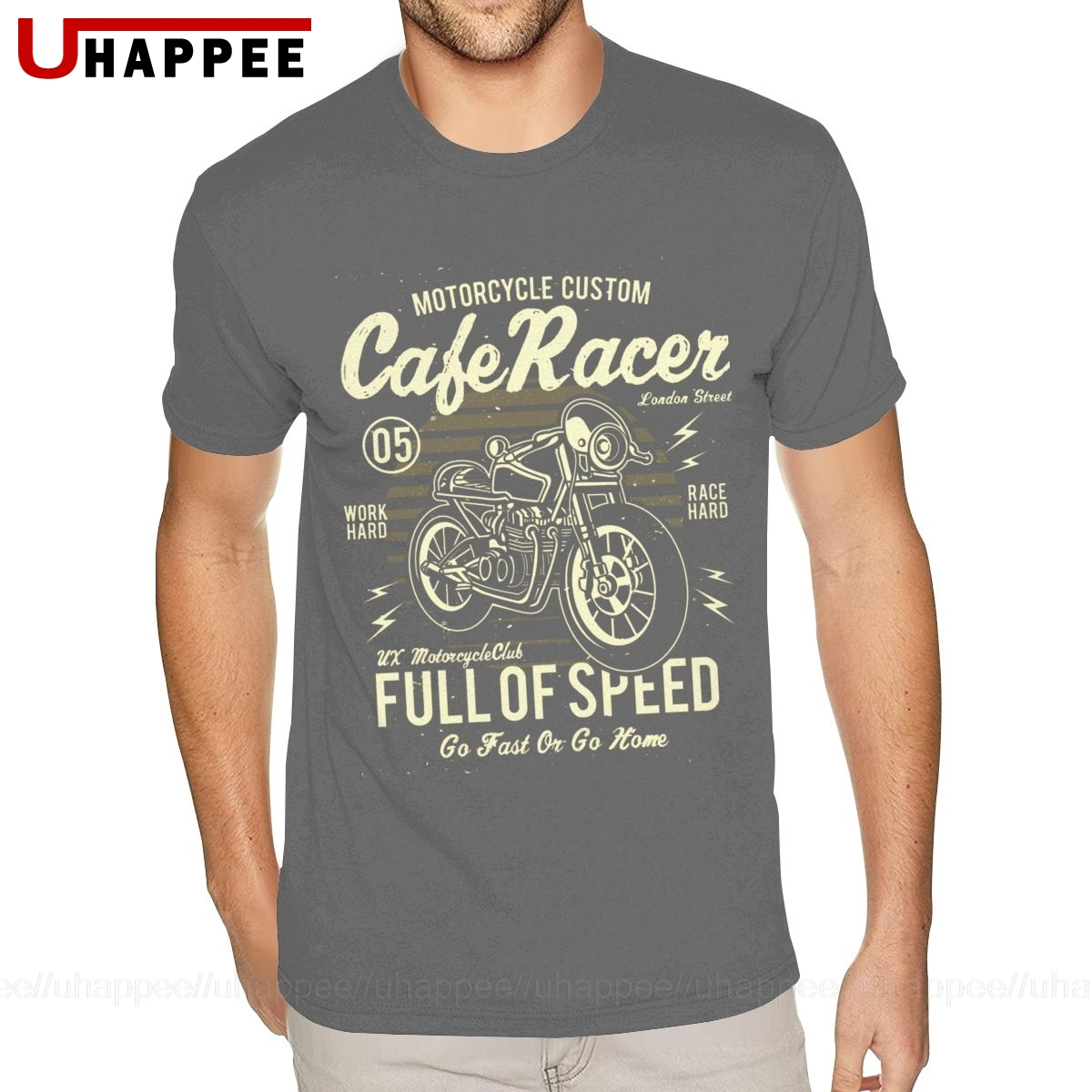 Oversize Cafe Racer Motorcycle Retro Vintage Shirts Mens Grunge Style Custom Short Sleeve Man T Shirt Summer 2020 Top Apparel