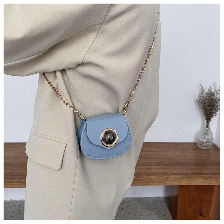 Mini Fashion Pu Soild Color Saddle Bags For Women Small Bag Leather Handbags And Lady Shoulder Bags Cross Body Bag (14)