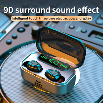 2020 NEW 3500mah Bluetooth Earphones Wireless Headphones With Microphone Sports Waterproof Headsets TWS Noise Cancel Earbuds bluetooth 5 0 earphones tws true wireless earphone headphones sports earbuds hifi bass stereo headsets with dual microphone