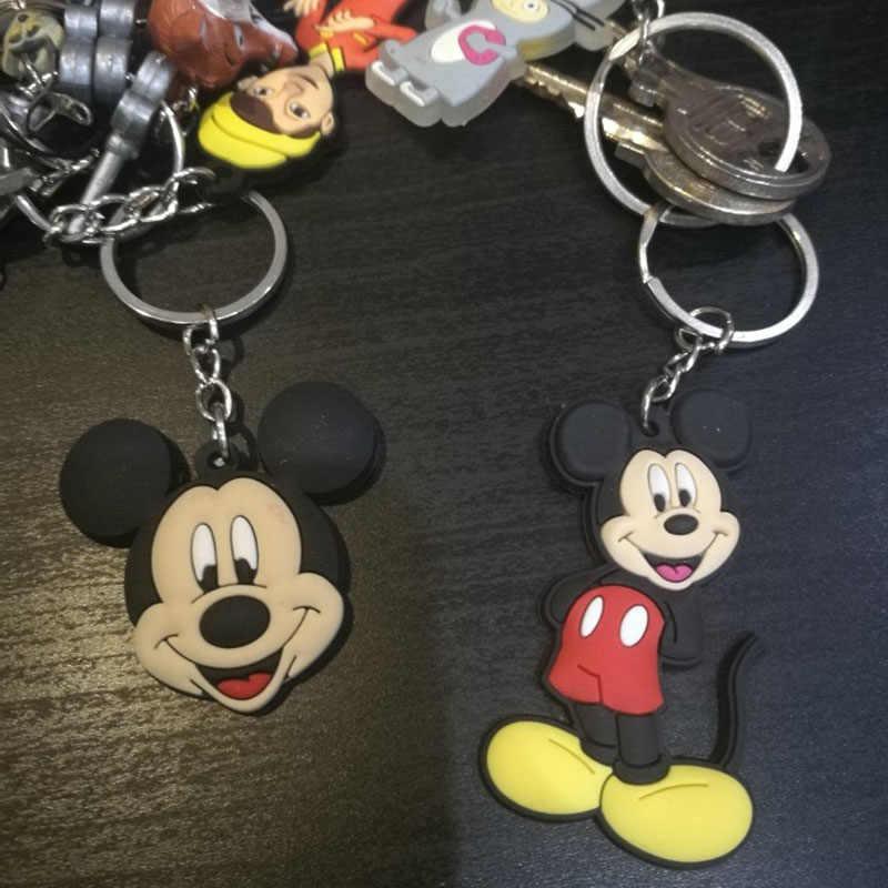 1 ชิ้นภายใน Out การ์ตูน PVC Key Chain มินิอะนิเมะวงแหวนเด็กของเล่นจี้พวงกุญแจแฟชั่น charms Trinket