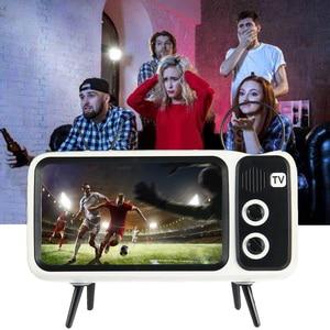 Image 5 - TV Del Telefono Mobile Del Supporto Del Basamento Per il iPhone 4.7 5.5 pollici Del Telefono Staffa di Montaggio Altoparlante Senza Fili di Bluetooth Audio Del Telefono Fisso supporto