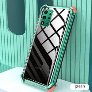 Image 2 - עמיד הלם סיליקון מקרה טלפון עבור Samsung Galaxy A50 A70 A51 A71 S20 FE S21 בתוספת S20 Ultra A32 A42 A52 a72 5G שקוף כיסוי