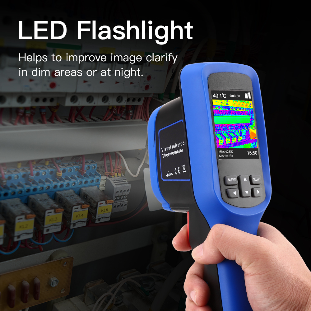 SeeSii Handheld Infrared Thermal Imager with Full color Display Screen and 8GB Storage