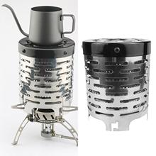 Portable Mini Camping Stove Cover Tent Heater Heating Warmer for Outdoor Picnic Durable Stove Cover Stainless Steel