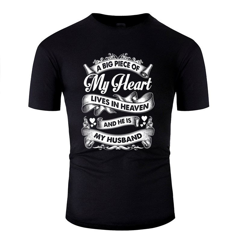 Husband - My Husband Is In Heaven T-Shirt For Men Cool I'd End Up Marrying Accountant Men And Women T Shirts Short Sleeve