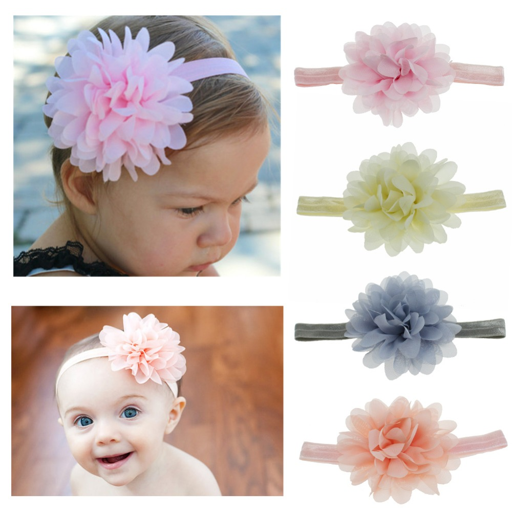 Baby Girls Headband Newborn Toddler Headdress Kids Cute Lace Flower Hairbands Child Headwear Hair Accessories Baby Things