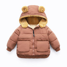 2019 Autumn Winter Baby Girls Jackets For Girls Coat Kids Wool Warm Hooded Outerwear Children Clothes Infant Boys Coat 2 6 Years(China)