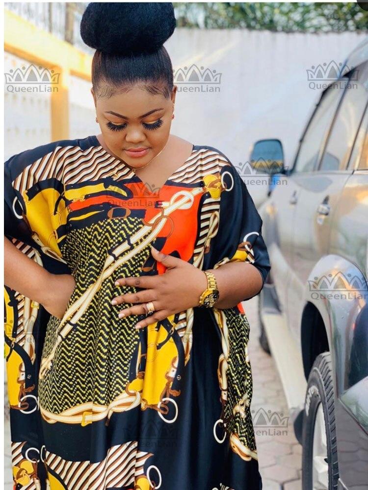 New African Oversize Chiffon  dress Cotton Dress  Length 140 cm Wide 115 cm