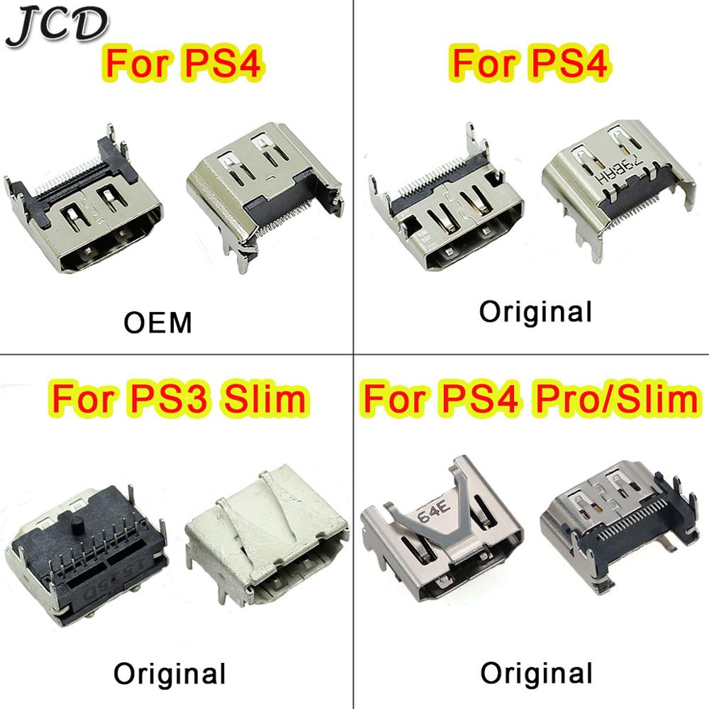 JCD HDMI Port Socket Interface Connector replacement For Sony PlayStation <font><b>3</b></font> PS3 Slim <font><b>3000</b></font> 4000 For PS4 / PS4 Pro Slim HDMI Jack image