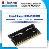 Kingston-memoria interna para ordenador portátil HyperX Impact DDR4 2666 SODIMM, 8GB, CL15, 16GB, 2666MHz, 1,2 V, 260pin, para juegos