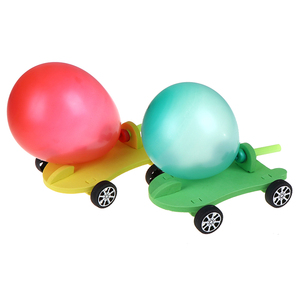 1PCS Newfangled DIY Balloon Powered Car Recoil Force Science Technology Experiment Students Toys