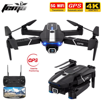 FEMA E525 E525S GPS Drone with 4K / 1080P 5G Wifi FPV HD Wide Angle Camera Foldable Mini Dron RC Quadcopter Follow Me VS E520S 2020 new f3 gps drone 4k 5g wifi foldable 4k 1080p hd camera quadcopter follow me fpv 25mins altitude hold durable rc drone dron