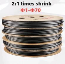 2:1 preto 1 2 3 5 6 8 10mm diâmetro heatshrink tubo de tubulação sleeving envoltório fio vender diy conector reparação